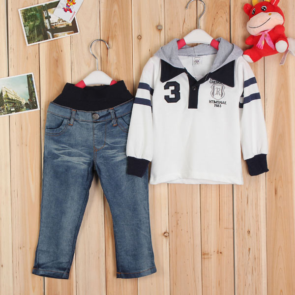 2pcs Suit Autumn Baby Boy Kid Tracksuit Hoodie Jacket Coat+ Pants Sets Baby & Mother Care