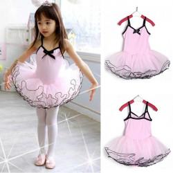 3 8Y Girl Party Gymnastikanzug rosa Ballett Tanz Ballettröckchen Rock Fee Kleid