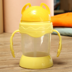 330 Ml Barn Dricksvatten Kopp Straw Handtag Flaska