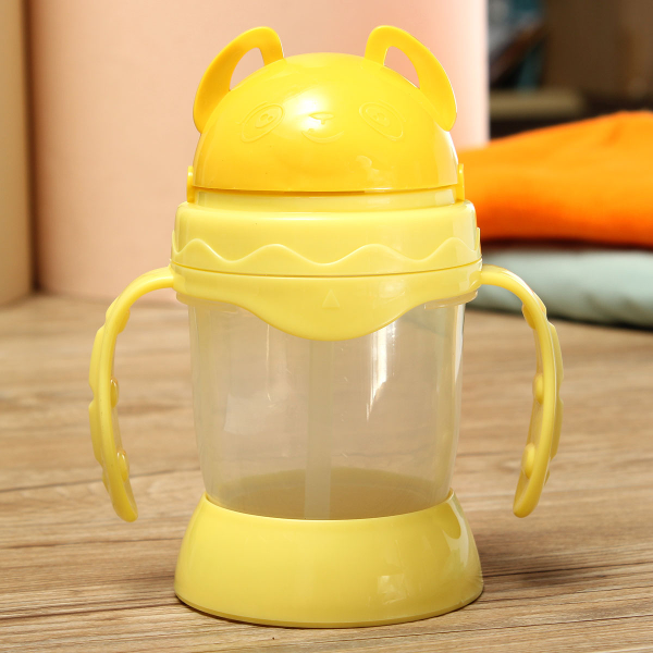 330ML Children Kids Drinking Water Cup Straw Handle Training Bottle Baby & Mother Care