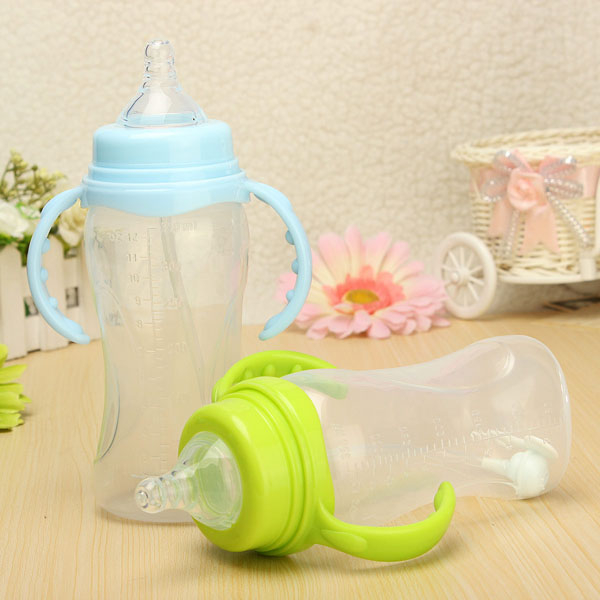 350 Ml Wide Nakke Baby Fodring Sygepleje Mælk Vandflaske med Håndtag Børn  & Babyudstyr