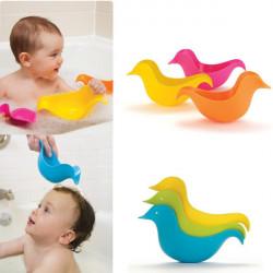 3stk Baby Kind nette Schwimmdock Shampoo Spielzeug Ente Bad Löffel