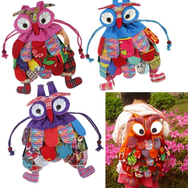 4 Colors Baby Owl School Backpacks Kid Child Shoulder Bags Baby & Mother Care