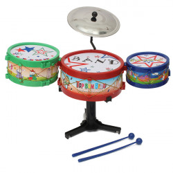 4st Mini Barn Drumma Kit Set Musikinstrument Band Leksak Bass Presenter