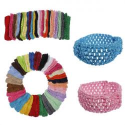 50 Bulk Girls Baby Toddler Crochet Headband Hairband