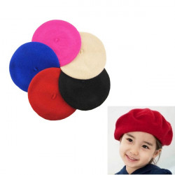 5 Farver Børn Uld Beret Hat Cap Baby Dome Cap 1-7 Years