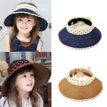 6 Color Girl Summer Casual Polka Dot Bow-knot Beach Sun Hat Straw Cap Baby & Mother Care