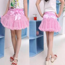 6 Colors Girls TuTu Skirts Bow-knot Pettiskirt Baby Gauze Dress