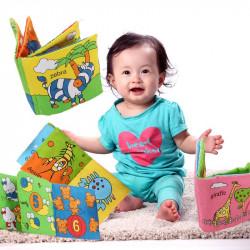 6 Farver Blød Baby Barn Hand Intelligence Cloth Book