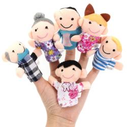 6st Finger Puppets Plysch Tyg Leksak Barnsäng Stories Helper Doll