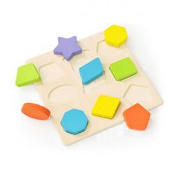 9 Stück Bunte Holzbausteine Kinder pädagogisches Spielzeug