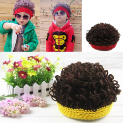April Fool's Day Baby  Wigs Cap Lovely Knitted Hat Children Chapeau