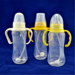 Baby 240ml Feeding Milk Bottle Silicone Nipple Handle Straw Baby & Mother Care