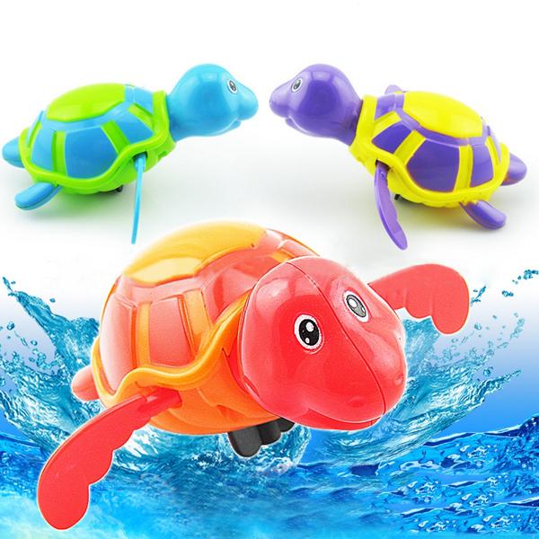 Baby Bath Legetøj Clockwork Stor Tegneserie Svømning Chain Turtle Børn  & Babyudstyr