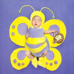 Baby Bee Plush Photography Prop Clothes Set Including Blanket