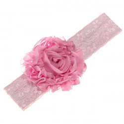 Baby Big Flower Hair Ornament Children Bud Silk Hair Band