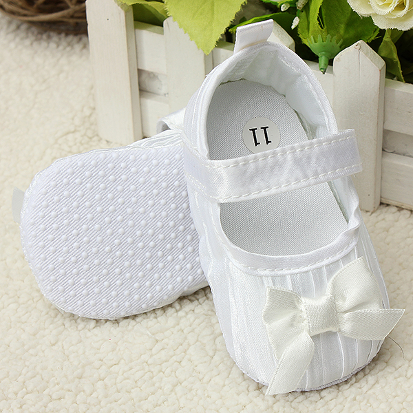 Baby Bowknot Shoes Toddler Princess Soft Sole Prewalker Ruffled Baby & Mother Care