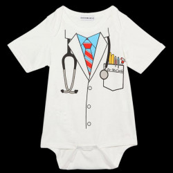Baby Drenge Pige Doctor Sparkedragter Bodysuit Spædbarn Kostume Sjov Jumpsuit