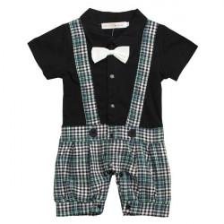 Baby Kinder Bowknot Herr Spielanzug Overall Kleidungs Satz