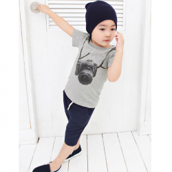Baby Boy Short Sleeve T-Shirt Camera Printing Casual Top