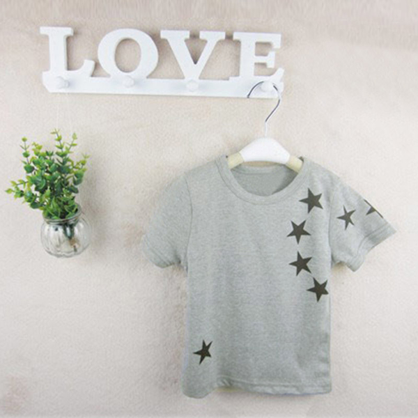 Baby Boys Short Sleeve T-Shirt Star Print Casual Top Baby & Mother Care