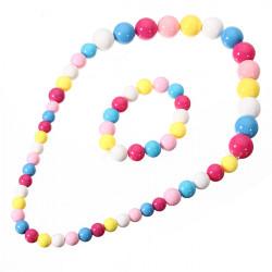 Barn Candy Color Jelly Färg Akryl Pärlor Långt Design Halsband