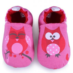 Baby CartoonOwl Prewalker Shoes Infant Soft Learning  Footwear