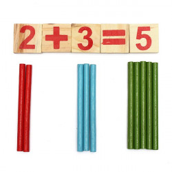 Baby Child Counting Stick Wooden Calculation Math Educational Toy