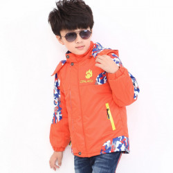 Baby Children Boys Camo Sports Outwear Camouflage Splicing Jackets