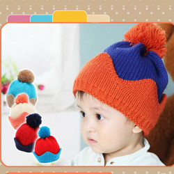 Baby Barn Tecknade Crown Knitted Hat Huvud Cap