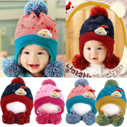Baby Barn Jul Knitted Hat Printed Moon Stjärna Dot Cap