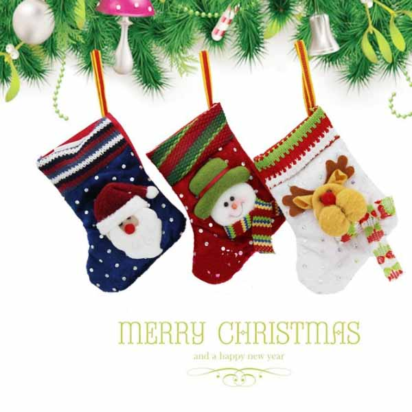 Baby Children Christmas Tree Decoration Stocking Knitted Socks Baby & Mother Care