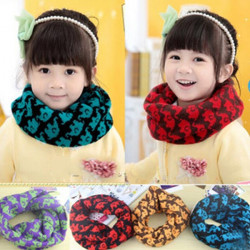 Baby Children Cotton Cartoon Elephant Warm Wool Scarf