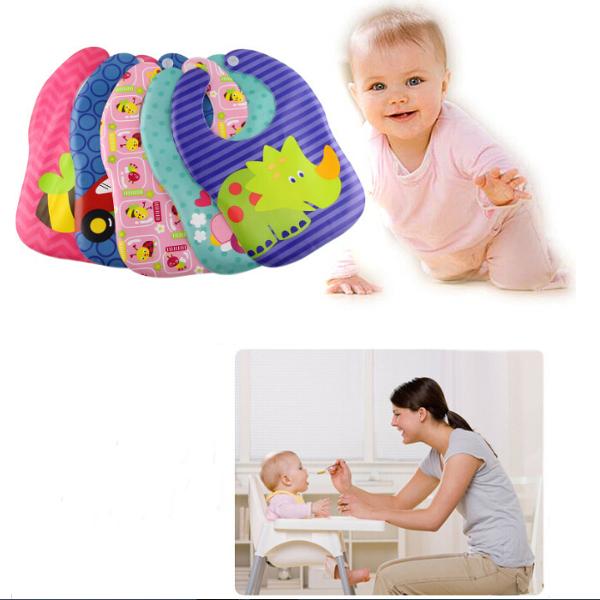 Baby Children Cute Cartoon Waterproof Saliva Soft Eating Bib Baby & Mother Care