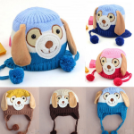 Baby Children Dog Cartoon knitted Cap Ear Flap Beanie Hat Baby & Mother Care