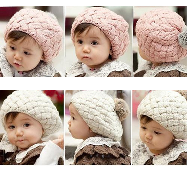 Baby Children Fashion Cute Winter Warm Knit Crochet Beanie Hat Baby & Mother Care