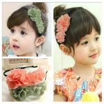 Baby Children Girls Chiffon Flower Hairband Soft Elastic Hair Hoop Baby & Mother Care
