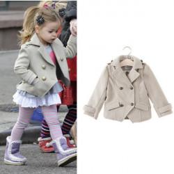 Baby Kind Mädchen Zweireiher Jacke Klein Anzüge