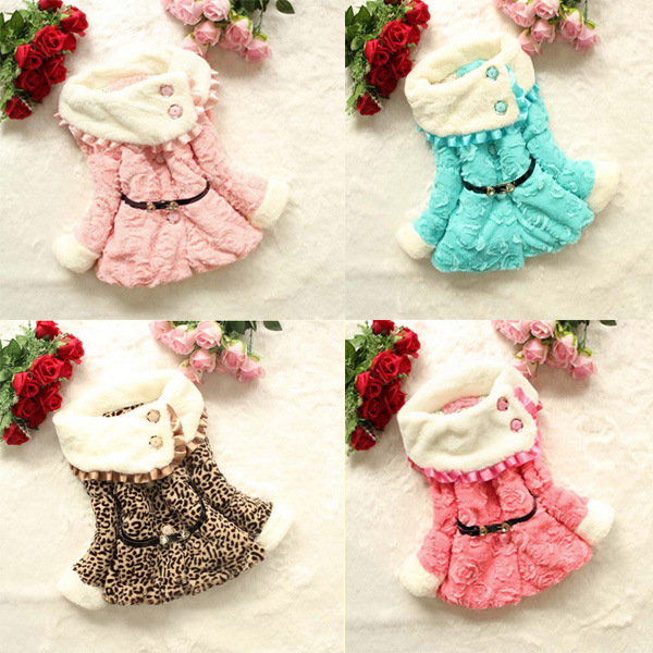 Baby Children Girls Padded Casual Warm Coat Jacket Outwear Baby & Mother Care