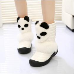 Baby Children Girls Panda Boots Warm Snow Fur Shoes