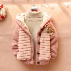 Baby Children Girls Soft Pullover Cotton Sweater Cardigan Coat