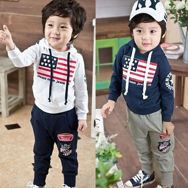 Baby Children Hooded Sportswear Long Sleeve Casual Suits Baby & Mother Care