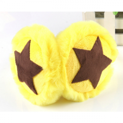 Baby Children Kids Five-pointed Star Fur Warm Earmuffs