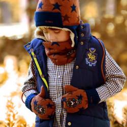 Baby Børn Robot Thermal Strikket Uld Handsker