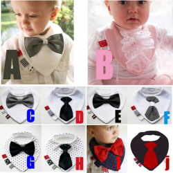 Baby Children Ladies Gentlemen Pattern Waterproof Soft Eating Bib
