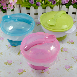 Baby Children Non-Slip Feeding Bowl Suction Base Spoon Tableware