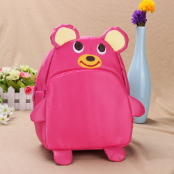 Baby Children Powder Bear Backpacks Cartoon School Bag Bookbag