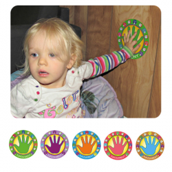 Baby Children Punishment Palm Removable Stickers 3 Pieces