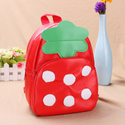 Baby Children Strawberry Backpacks Cartoon School Bag Bookbag