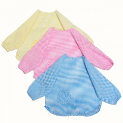 Baby Children Waterproof Long Sleeve Bib Feeding Art Smock Apron